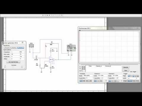 Differentiator Circuit Simulation in MULTISIM