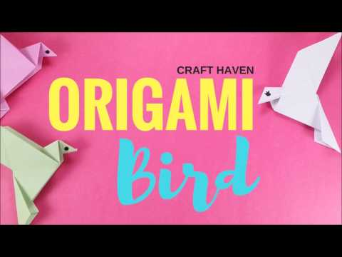 Origami Bird Easy Tutorial - Step by Step Tutorial On How To Make A Paper Bird - #origami animal