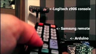 Samsung Smart Tv Logitech Z906 With One Remote Controller Arduino