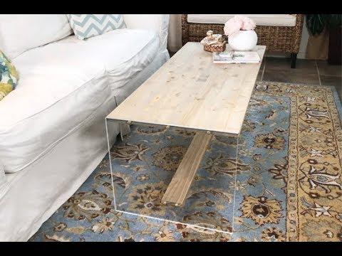 DIY Acrylic & Wood Coffee Table