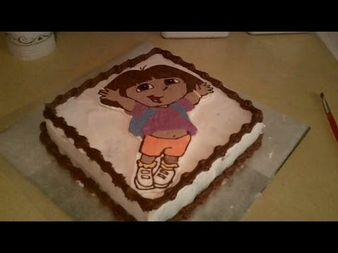 How to Make Dora the Explorer Birthday Cake