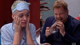 katy perry spills her guts with james corden witness world wide
