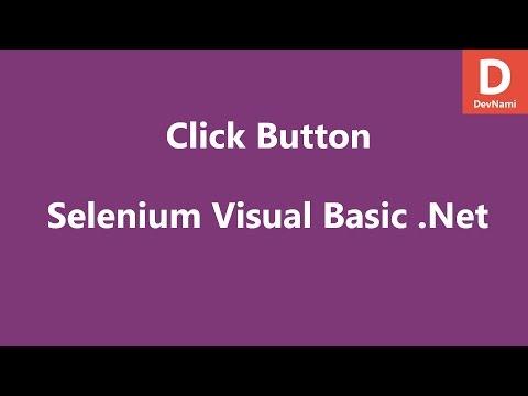 Selenium Visual Basic .Net Click Button