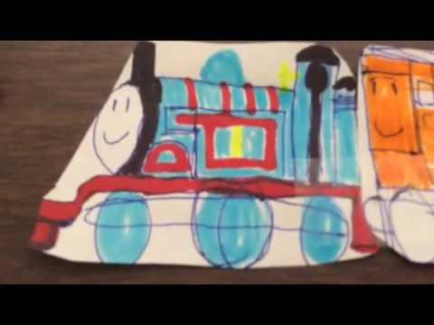 Paper trains 1: Thomas the tank engine