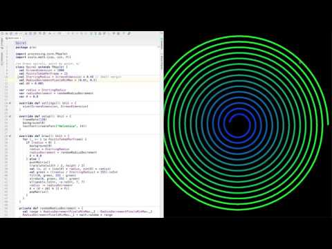 Drawing Spirals with Processing and Scala
