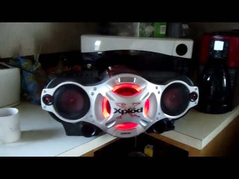 My New Sony XPLOD #CFD-G700CP Boombox (Testing It)