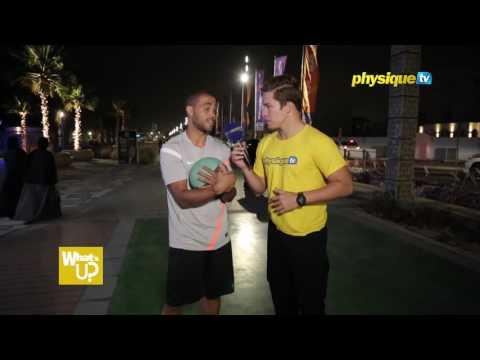 Fitness Challenge - Medicine ball side slams