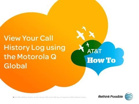 View Call History Log using the Motorola Q Global: AT&T How To Video Series