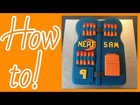 How to make a nerf vest cake!