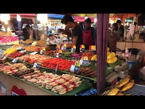 Sea food & Street entertainment in Bangla Road , Phuket