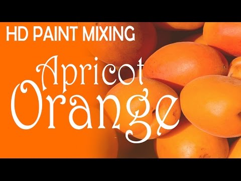 HD Paint Mixing - 'Apricot Orange' Colour (Very Liquid)