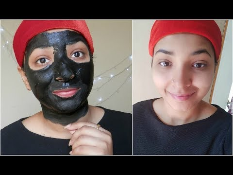 activated charcoal FACE PACK for OILY & ACNE PRONE SKIN    LIVE DEMO    HINDI