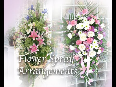 How to make Fresh Flower Spray Arrangement for Sympathy Tribute or Grand Opening