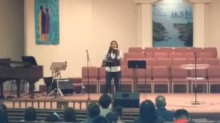 "Kristy sings ""Blessed Assurance"" at Glorieta"