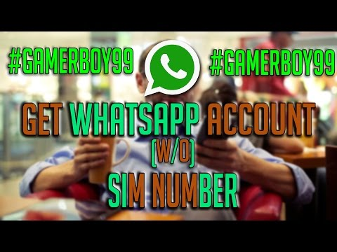 get WHATSAPP account without SIM NUMBER !! with PROOF , LEGIT 100%