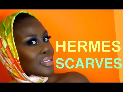 How I tie & wear my collection of HERMES scarves   How to   Fumi Desalu-Vold