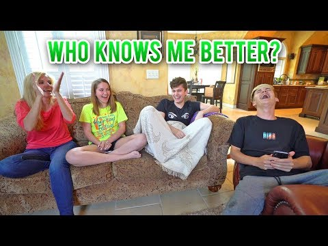 WHO KNOWS ME BETTER CHALLENGE!! (FAMILY EDITION)