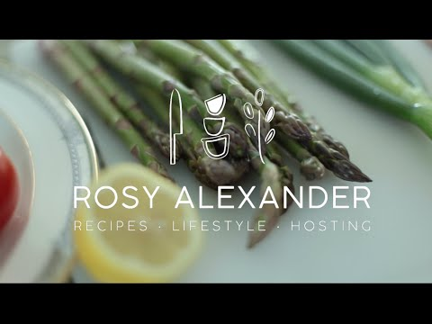 Lemon Butter Asparagus + Rice Pilaf