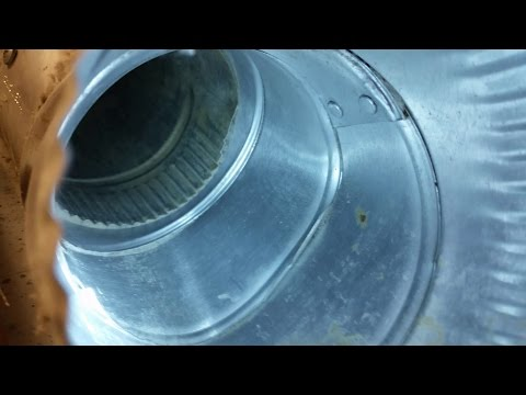 Dryer and duct cleaning of built up lint