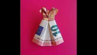 Geldscheine Falten Kleid Geld Falten Zur Hochzeit Origami