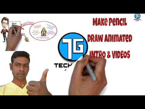 How To Make Pencil Animated YouTube Intro & Animated Videos Hindi
