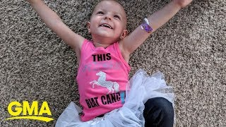 2-year-old who fought rare ovarian cancer is now cancer-free l GMA Digital