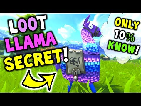 Loot Llama *SECRET* That Only 10% OF Player Know! - Fortnite Battle Royale Loot Llama SECRET TIP!