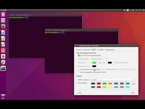 How to make terminal transparent in Ubuntu