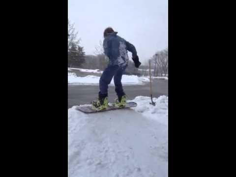 Diy snowboard quarterpipe 1