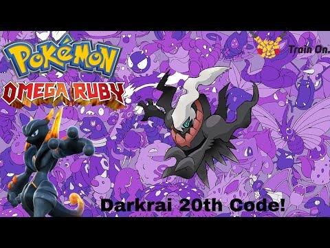 Pokémon ORAS: 20th Anniversary Darkrai code and receiving!