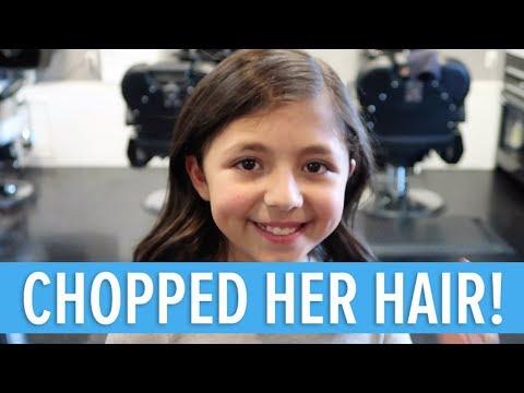 SHE CHOPPED OFF HER HAIR 😳