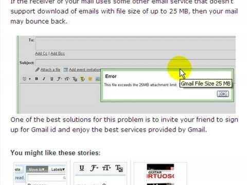 Gmail Allows 25MB File Attachement Limit HD
