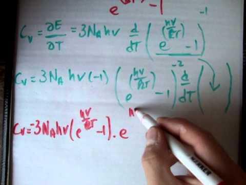 Quantum Statistics 36 c : Einstein formula specific heat