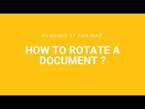 Readiris 17 Mac: Automatic image correction and rotation