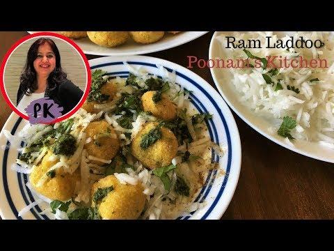 दो तरीके से बिल्कुल मार्किट जैसे गोल soft राम लड्डू बनायें/Delhi street food|Poonam's Kitchen