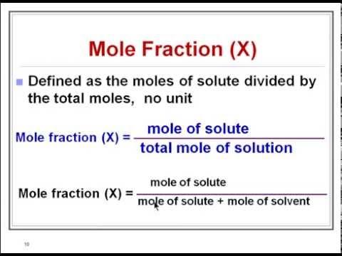 Mole Fraction