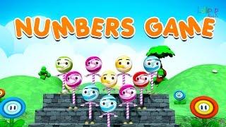 Numbers Game Rhymes For Children | Nursery Rhymes | Nursery Rhymes For Children | Lollipop Kidstv