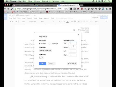 Margin Controls tutorial   Google Docs