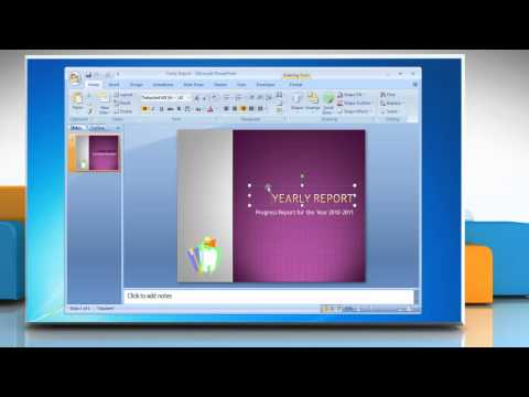Microsoft® PowerPoint 2007: How to animate text in presentation on Windows® 7?