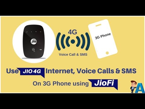 Use Jio 4G Interent, Voice Calls and SMS on 3G Phone Using jioFi