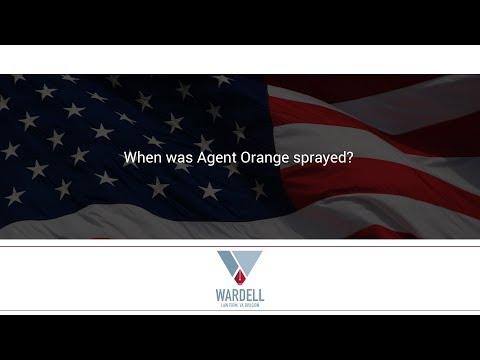 When was Agent Orange sprayed?