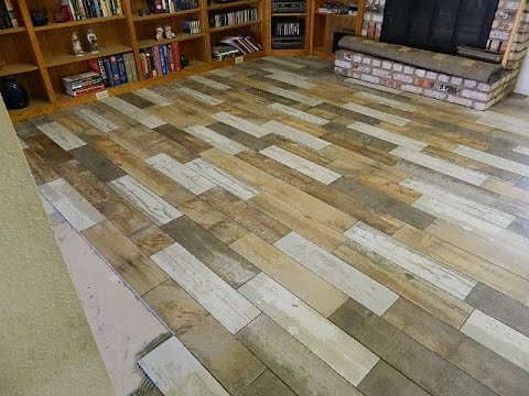 How to lay a Tile Floor - Reclaimed Wood Look