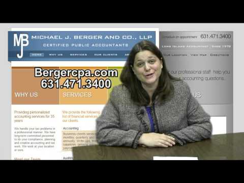 Michael J. Berger Welcome message. Long Island New York (NY) CPA firm