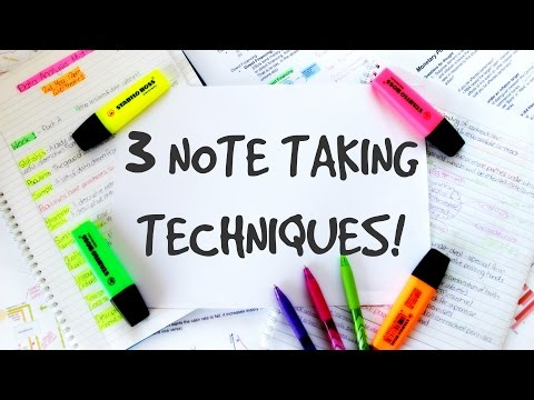 HOW TO TAKE AWESOME NOTES!    3 EASY STEPS