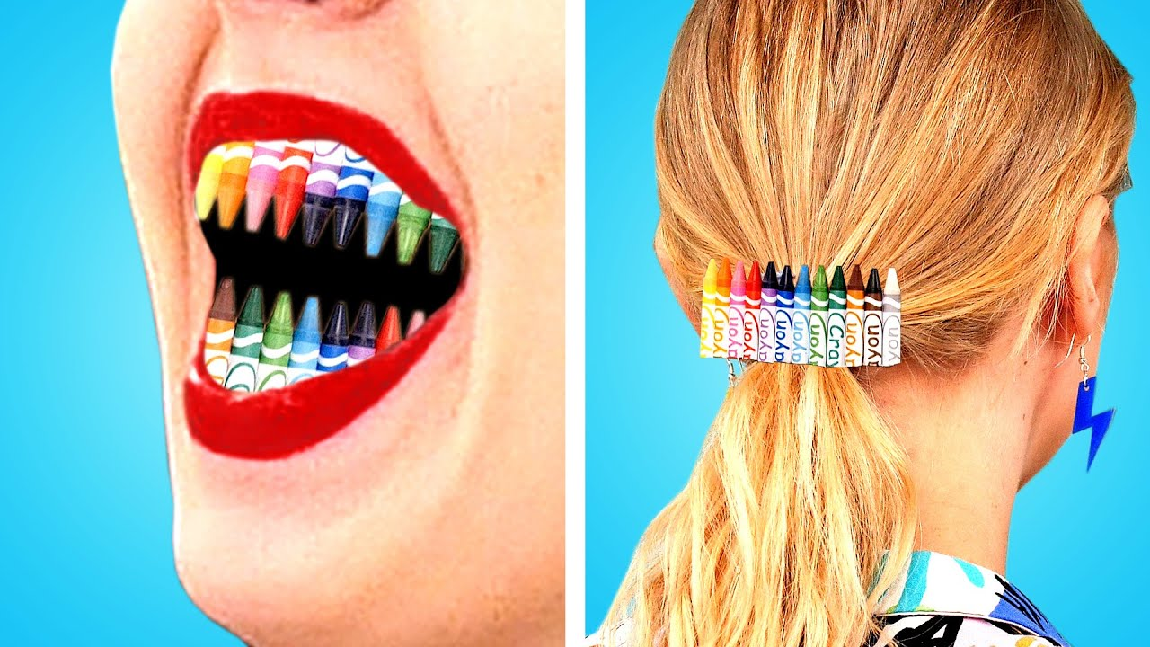 BEST HAIR HACKS TO TRY | LONG HAIR PROBLEMS! Back To School Makeup and Supplies by Crafty Panda