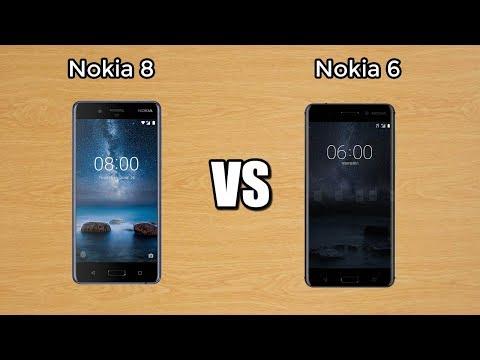 Nokia 8 vs. Nokia 6 Specs comparison!