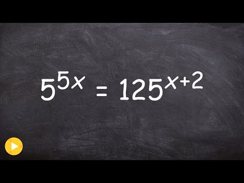 How do you solve an equation with exponents on both sides