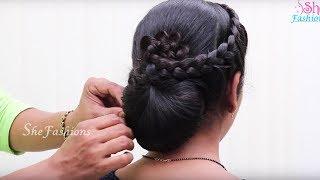 Easy Hair style for Long hair & Ladies hair style & Hair Style videos 2017