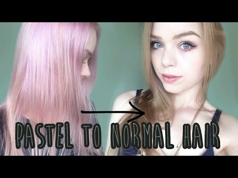DYING BACK TO NATURAL COLORS: PASTEL TO GOLDEN BLONDE