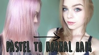 Dying Back To Natural Colors Pastel To Golden Blonde